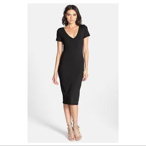 Nordstrom LEITH V-Neck Body-Con Dress